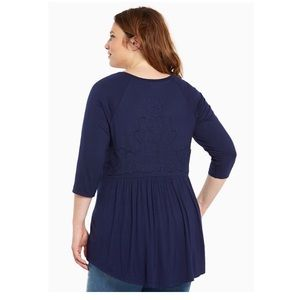 Torrid Embroidered Back Tunic